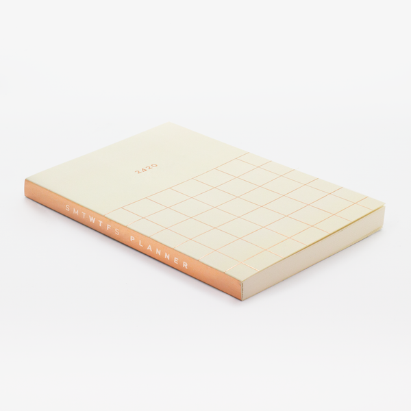 2020 12M GRID POCKET PLANNER HAZELNUT CREAM - Hadron Epoch