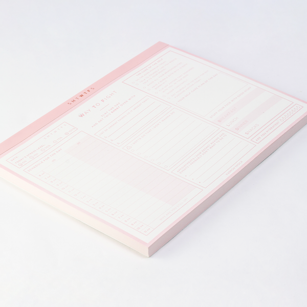SMTWTFS Daily Desk Pad Coral Pink - Hadron Epoch