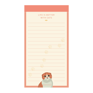 POP Meow Meow Lined Notepad - Hadron Epoch