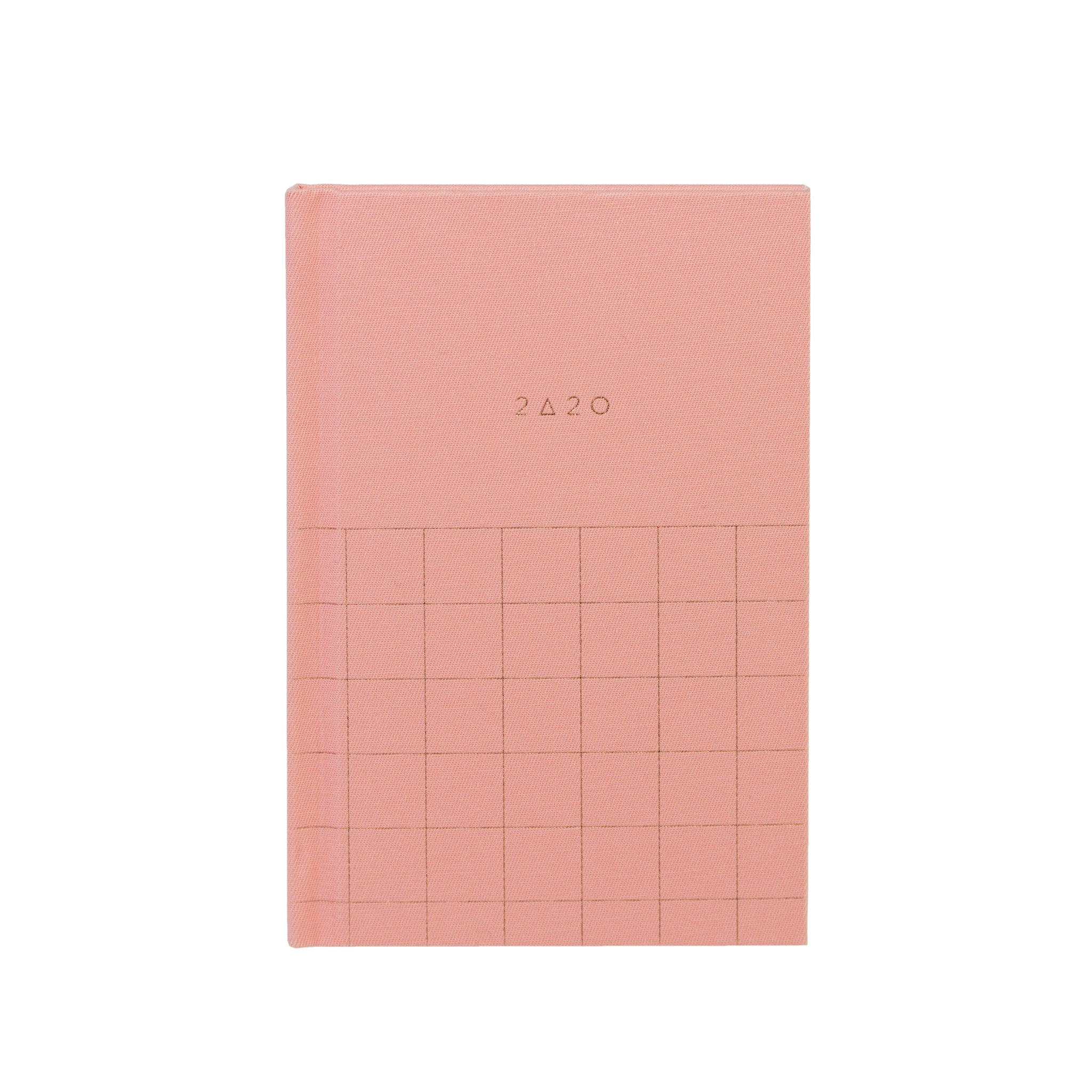 2020 (12M) SMTWTFS FABRIC POCKET PLANNER CORAL PINK - Hadron Epoch