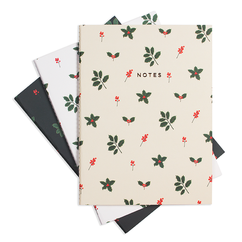 "HOLLY JOLLY NOTEBOOK (3/SET) 6"" x 8"" - Hadron Epoch"