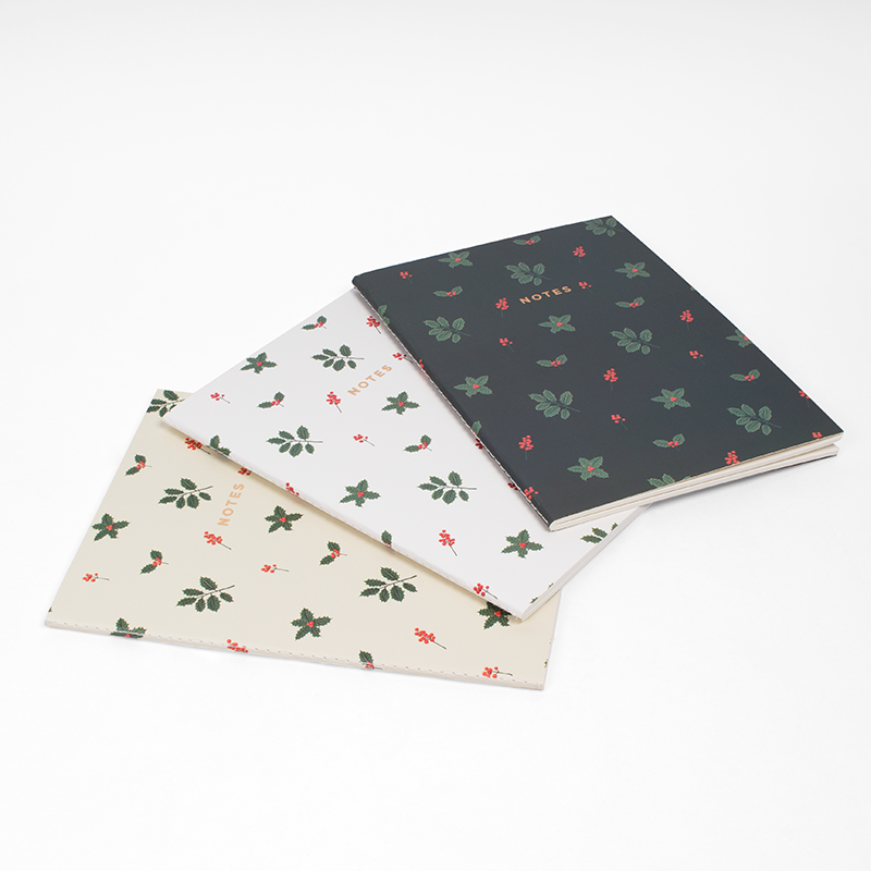 "HOLLY JOLLY NOTEBOOK (3/SET) 6"" x 8"""