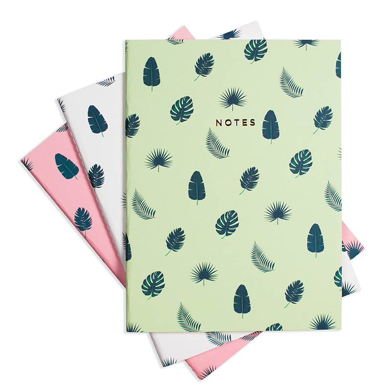 TROPICAL VIBES NOTEBOOK (3/SET)
