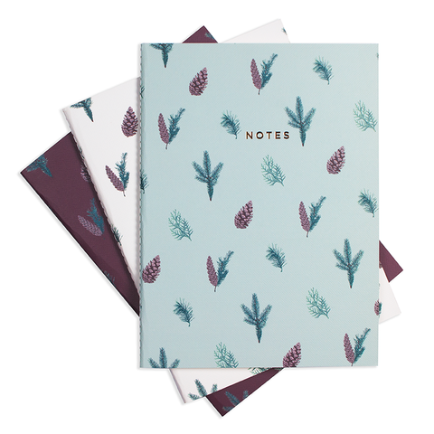 "DECK THE HALLS NOTEBOOK (3/SET) 6"" x 8"" - Hadron Epoch"