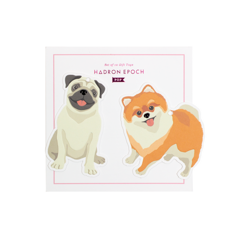 BOW WOW BLANK GIFT TAGS (FULL BODY) - Hadron Epoch