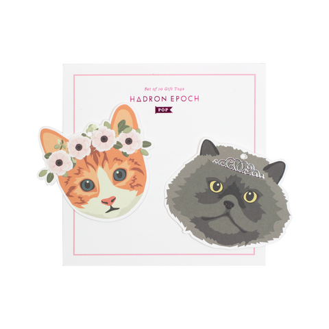 MEOW MEOW BLANK GIFT TAGS (HEAD) - Hadron Epoch