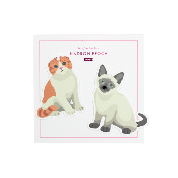 MEOW MEOW BLANK GIFT TAGS (FULL BODY) - Hadron Epoch