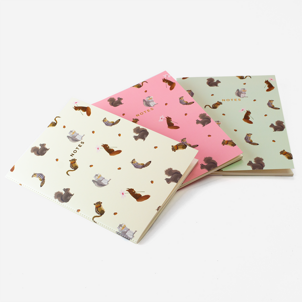 LARGE SQUIRREL NOTEBOOK 3/SET - Hadron Epoch