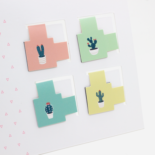 Cactus Lover Magnetic Corner Bookmark - Hadron Epoch