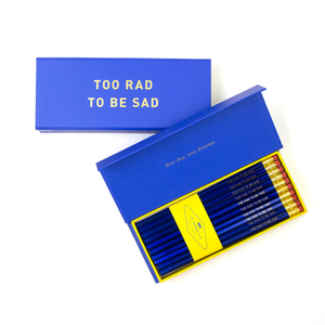TOO RAD TO BE SAD PENCIL BOX - Hadron Epoch