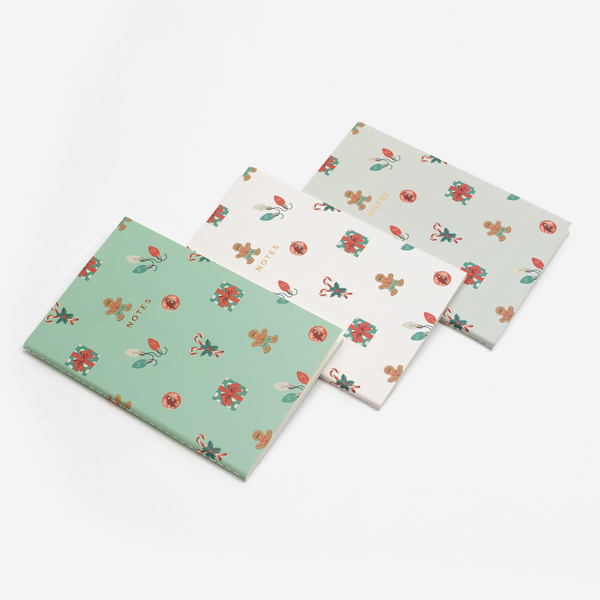 MINI MERRY AND BRIGHT NOTEBOOK 3/SET - Hadron Epoch