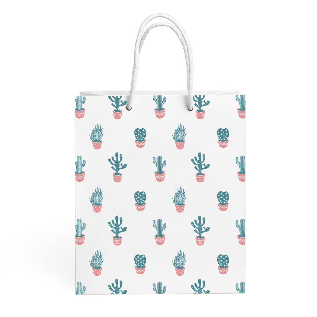 CACTUS PATTERN GIFT BAG