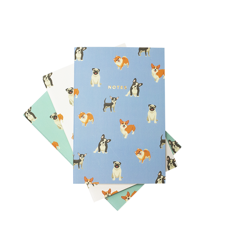 MINI BOW WOW NOTEBOOK 3/SET - Hadron Epoch