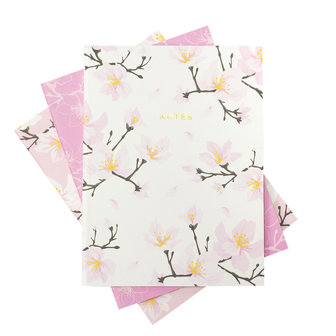 LARGE CHERRY BLOSSOM NOTEBOOK 3/SET - Hadron Epoch