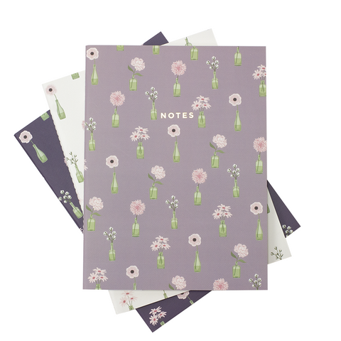 LARGE FLORAL VASE NOTEBOOK 3/SET - Hadron Epoch