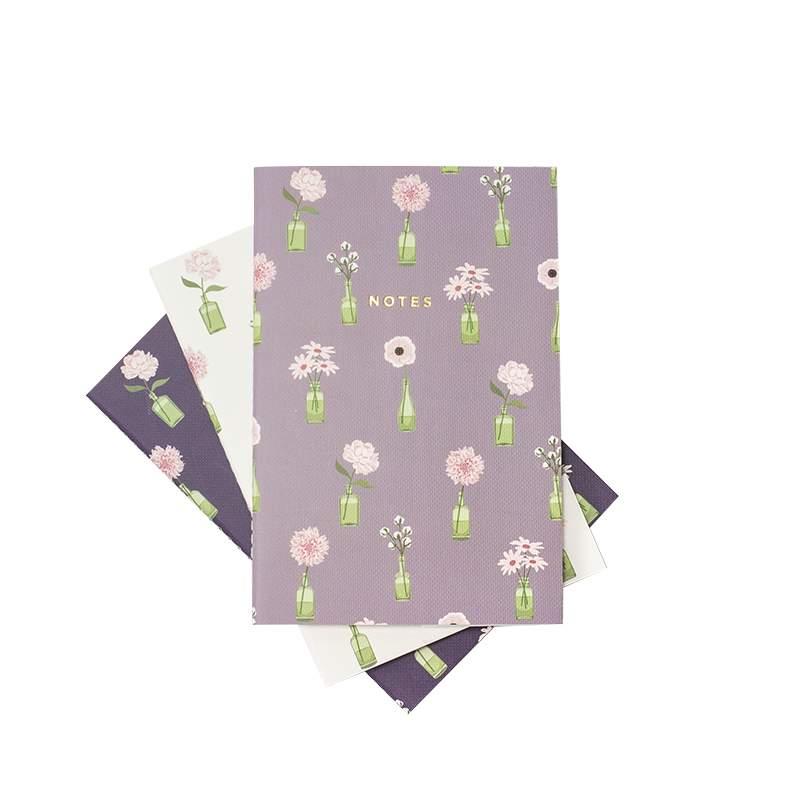 MINI FLORAL VASE NOTEBOOK 3/SET - Hadron Epoch