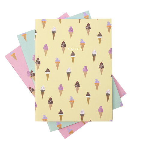 LARGE ICE CREAM NOTEBOOK 3/SET - Hadron Epoch