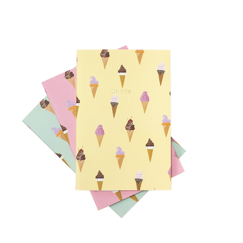 ICE CREAM NOTEBOOK 3/SET (S/L) - Hadron Epoch