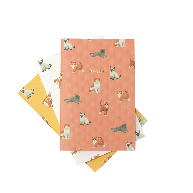 MINI MEOW MEOW NOTEBOOK 3/SET - Hadron Epoch
