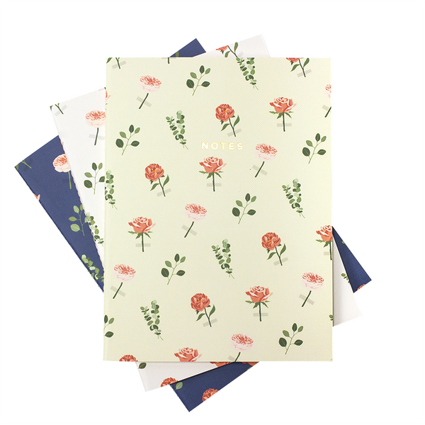 LARGE ROSES NOTEBOOK 3/SET - Hadron Epoch