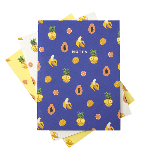TROPICAL FRUITS NOTEBOOK 3/SET (S/L)
