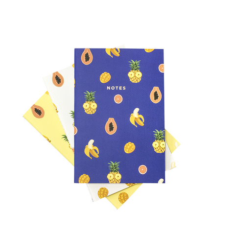 TROPICAL FRUITS NOTEBOOK 3/SET (S/L) - Hadron Epoch