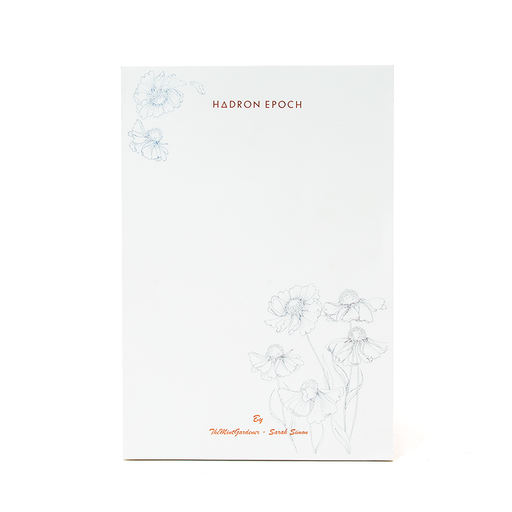 Sarah Simon x HADRON EPOCH COLLABORATION NOTEPAD