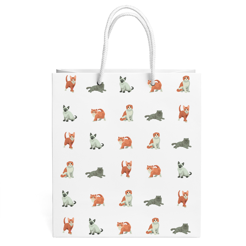 CATS PATTERN GIFT BAG