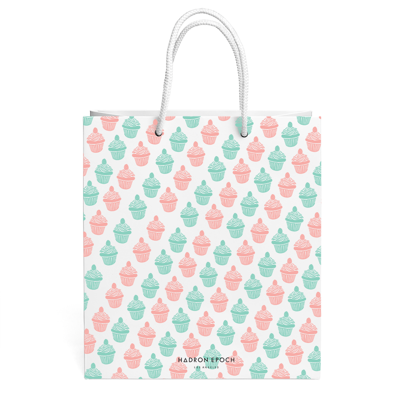 PINK AND BLUE CUPCAKE GIFT BAG