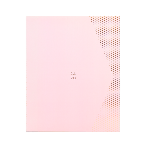 2020 (17M) SMTWTFS MONTHLY PLANNER CORAL PINK - Hadron Epoch