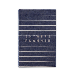2020 (17M) SMTWTFS PLANNER STRIPED DENIM BLUE - Hadron Epoch