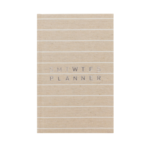 2019 12M WTF PLANNER STRIPED MORNING OATMEAL