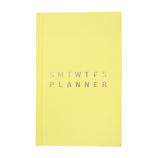 2019 (17M) SMTWTFS PLANNER BUTTER YELLOW
