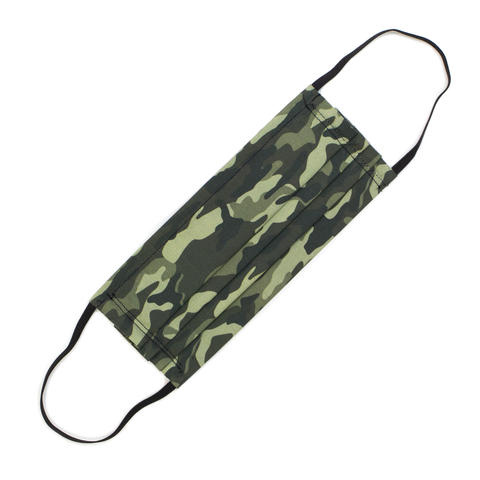 REUSABLE COTTON PLEATED MASK - CAMO - Hadron Epoch