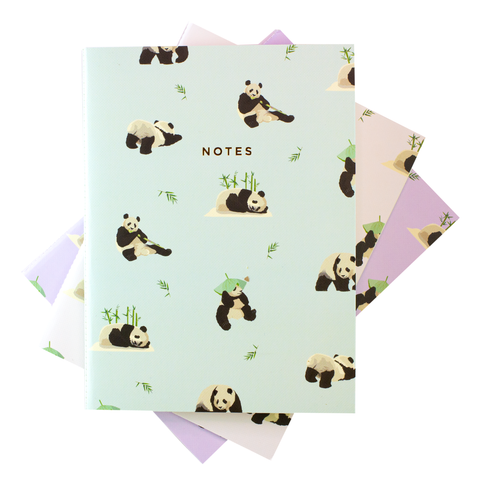 LARGE PANDA NOTEBOOK 3/SET - Hadron Epoch