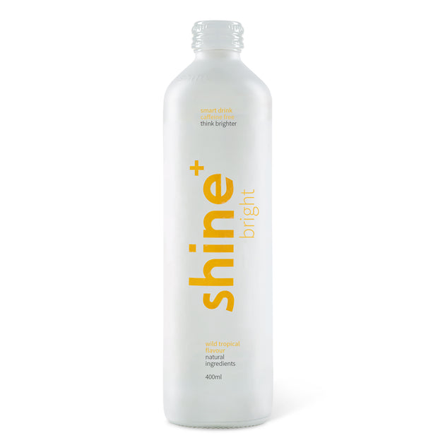 Shine+ Wild Tropical Caffeine Free 400ml x12