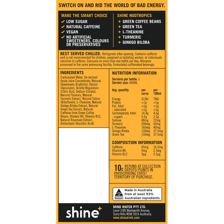 Shine+ Wild Tropical 400ml x12