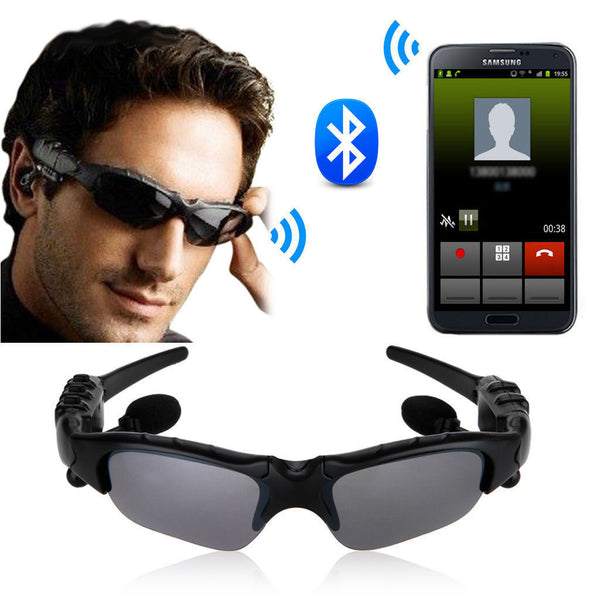 A Wireless Bluetooth SunGlasses Headset Headphones Handfree For iPhone Samsung HTC