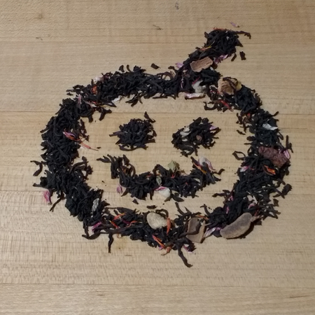 Spooky Jack-O'-Lantern Made from Tea