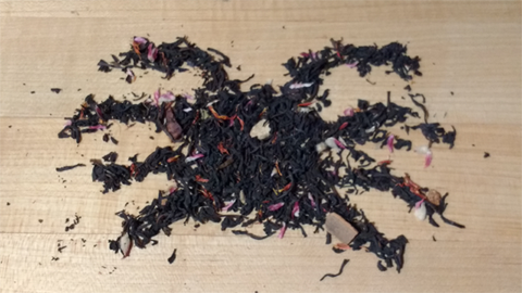 Spooky Spider Design Made from Tea