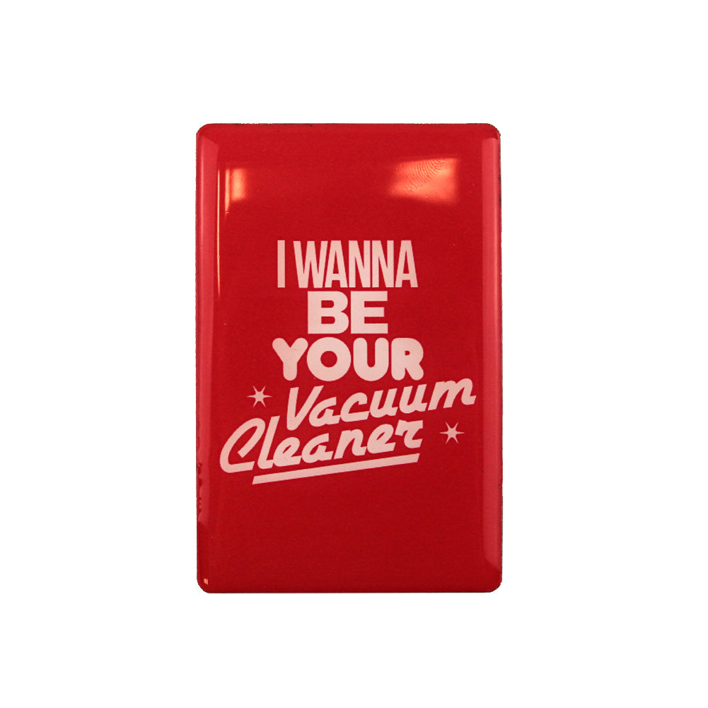 RED VACUUM CLEANER MAGNET