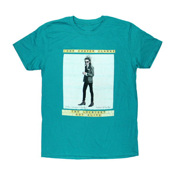 Luckiest Guy Alive Teal T-shirt