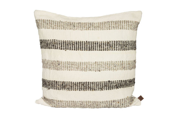 Striped Pillow -Grey