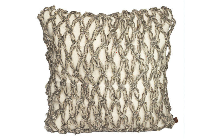 Net Pillow -Grey