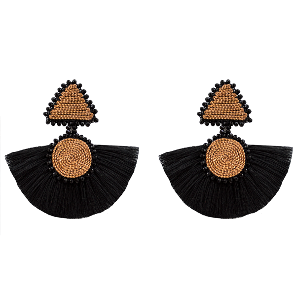 Geometric Earrings - Black