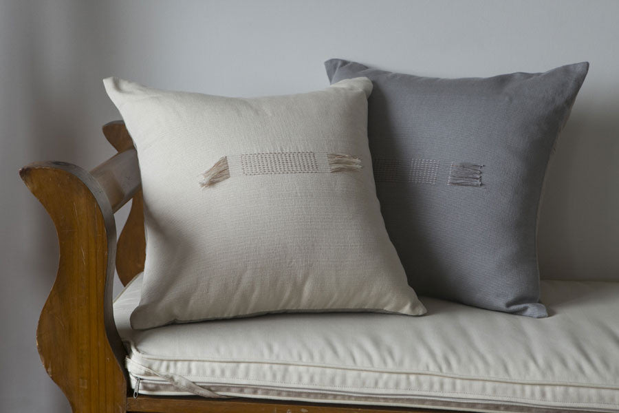 Pillow Cover Solid Light Grey Quipu