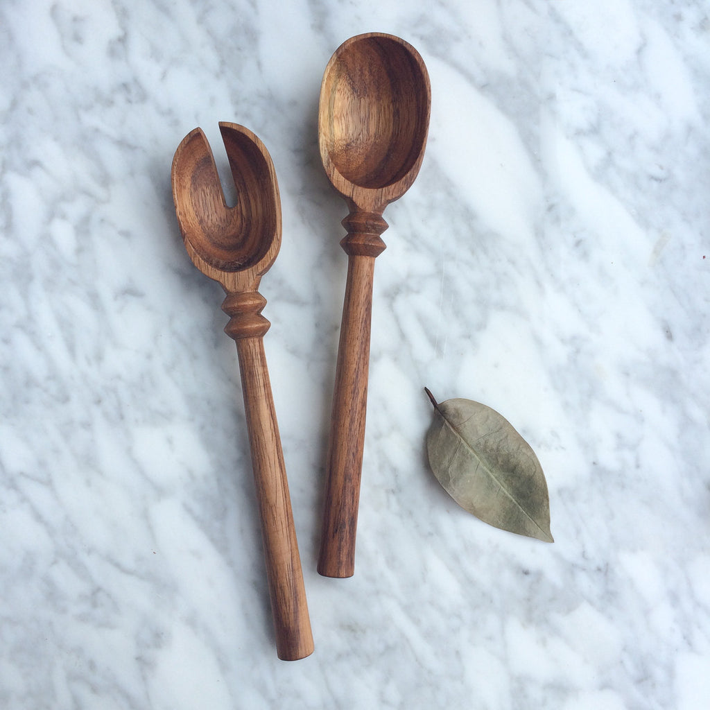 Natural Wood Serving Pieces - Carved