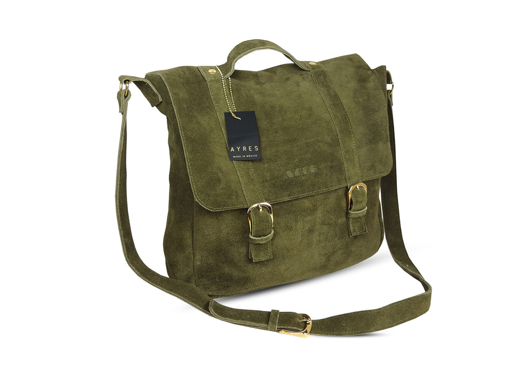 Suede Messenger Bag - More colors available