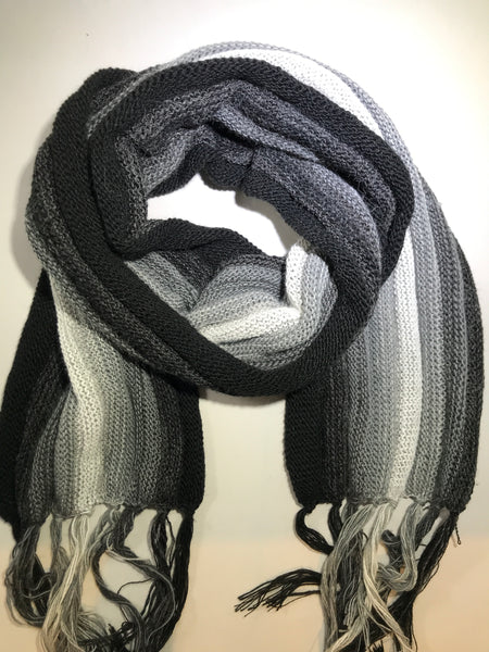 Alpaca & Wool Scarf - Black