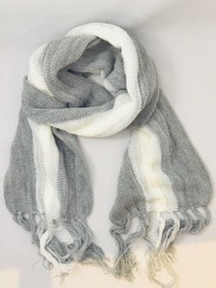 Alpaca & Wool Scarf - Grey